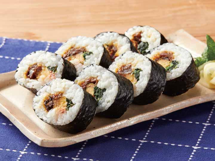 カットしてある五目太巻き寿司 | 有機野菜や自然食品の購入は大地を ...